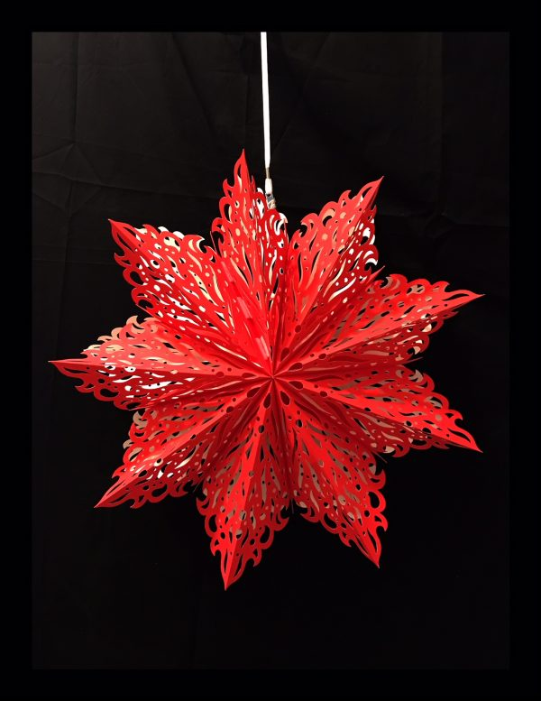 Red Fire Snowflake