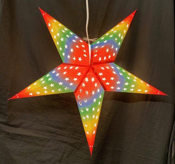 Rainbow Star Cutout
